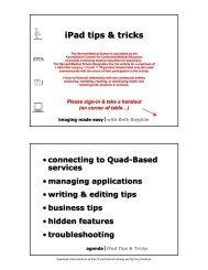 iPad Tips & Tricks - eCommons