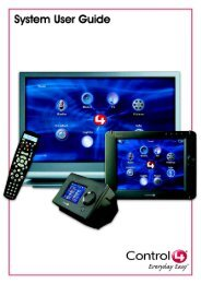 OS 1.6.0 System User Guide - Control4