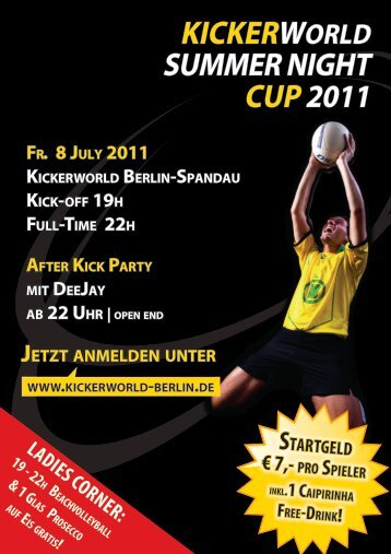KICKERWoRld BERlIN-SpaNdaU KICK-oFF 19H FUll-TIME 22H ...
