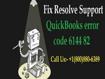 QuickBooks error code 6144 82