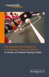 The Warwick Commission on International Financial Reform: In ...