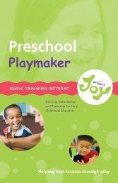 Preschool Playmaker Training Brochure - Project Joy