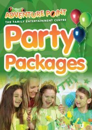 party package brochure - Adventure Point