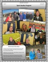 Sport Studies Program Newsletter - Reinhardt University