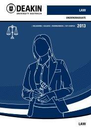 Undergraduate Law Courses 2013 - Deakin University