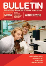 MSWA Bulletin Magazine Winter 18