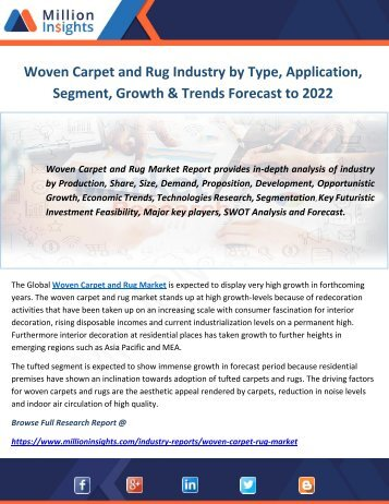 Woven Carpet and Rug Industry By Type, Application, Segment, Growth & Trends Forecast to 2022