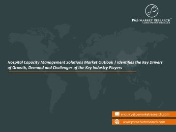 Hospital Capacity Management Solutions Market Show Exponential Growth by 2023