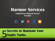 5 Secrets to Maintain Your Septic Tanks