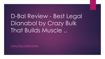 D-Bal Review - Best Legal Dianabol by Crazy Bulk That Builds Muscle ..
