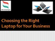 Choosing the Right Laptop for Your Business