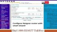 Configure Netgear Router with Smart Wizard 18003358177