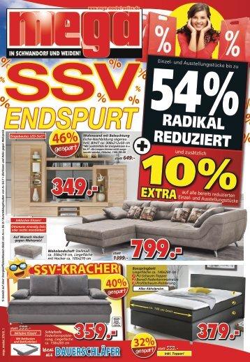 SSV-Endspurt bei Mega Möbel in Schwandorf + Weiden