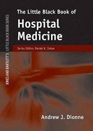 Download Little Black Book of Hospital Medicine (Jones and Bartlett s Little Black Book) - Andrew J. Dionne [PDF Free Download]