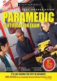 Read Paramedic Certification Exam - Learningexpress [PDF File(PDF,Epub,Txt)]