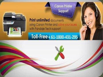 Canon printer technical support number Australia +61-1800-431-295