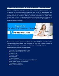 Facebook Technical Support Number +1-833-445-7444