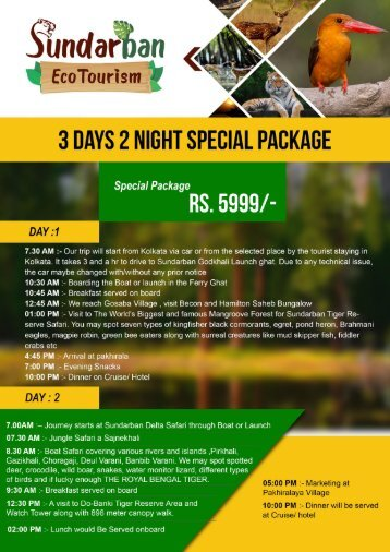 3 DAYS 2 NIGHT SPECIAL PACKAGE