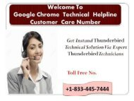 Just Call +1-833-445-7444 Google Chrome Customer Support Number