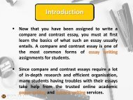 Pro tips for composing a compare and contrast essay
