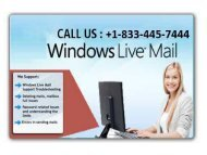 Resolve Your Issues with Windows Live; Call +1-833-445-7444 Windows Live Customer Support Number