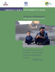 Community Media Sustainability Guide - Internews