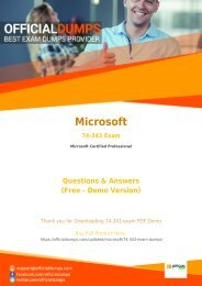 74-343 Dumps - Get Actual Microsoft 74-343 Exam Questions with Verified Answers | 2018