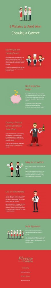 6 Mistakes to Avoid When Choosing a Caterer