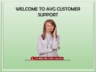 AVG customer support number 1-800-241-5303