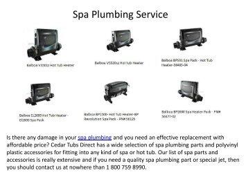 Spa Plumbing Service