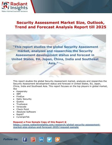 Security Assessment Market Growth Opportunity And Forecast Report till 2025