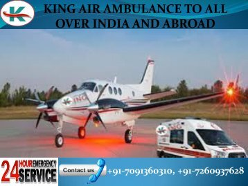 King Air Ambulance to all over India and abroad