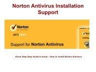 norton antivirus installation support