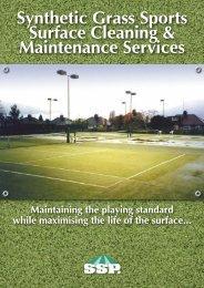 Synthetic Grass Sports Surface Cleaning & Maintenance ... - ASC Info