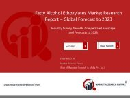 Fatty Alcohol Ethoxylates Market to 2023 | Evolving Technology, Trends and Industry Analysis