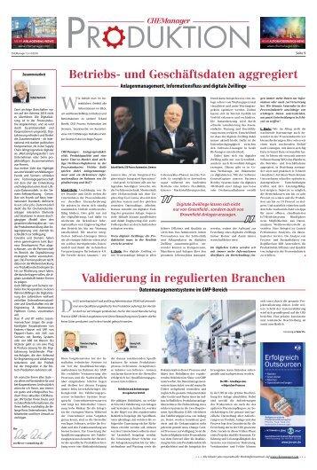 2018-07 CHEManager - Validierung im regulierten Bereich - www.chemanager-online.com