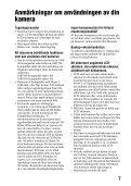Sony SLT-A65K - SLT-A65K Consignes d'utilisation Suédois - Page 7