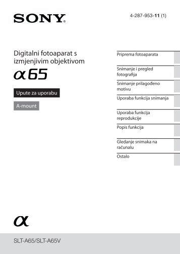 Sony SLT-A65K - SLT-A65K Consignes d'utilisation Croate