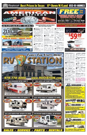 American Classifieds Thrifty Nickel July 19th Edition Bryan/College Station