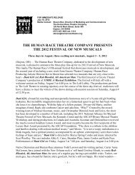 the human race theatre company presents the 2012 festival of new ...