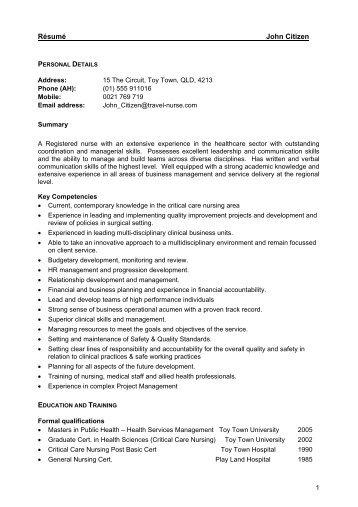professional resume australia