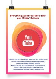 Everything About YouTube's 'Like' and 'Dislike' Buttons