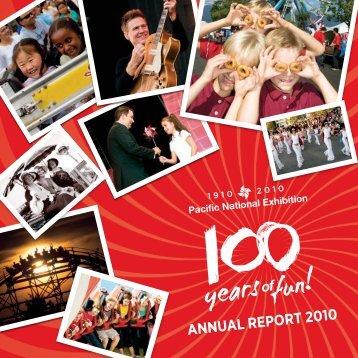 ANNUAL REPORT 2010 - PNE