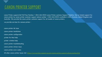 canon printer support +1844-464-0222  | canon printer toll free number