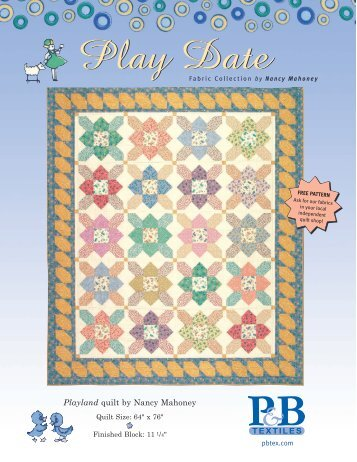 Playland quilt by Nancy Mahoney - P&B Textiles