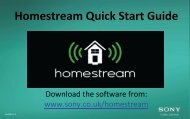 Homestream Quick Start Guide - sony-europe.com