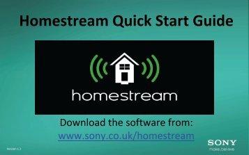 Homestream Quick Start Guide - sony-europe.com