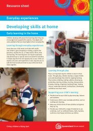 Developing skills at home - The Department of Education, Training ...