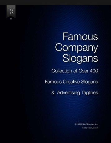 Famous Company Slogans - closetflip