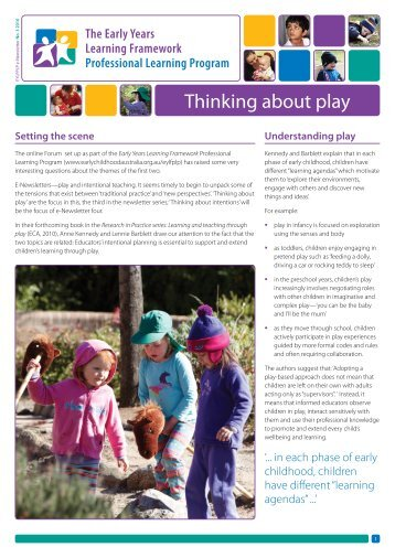 Thinking about play - Early Childhood Australia